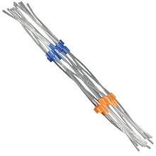 Flared PVC Peristaltic Pump Tubing - 0.27 mm I.D - Orange-Blue