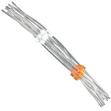 Flared PVC Peristaltic Pump Tubing - 0.64 mm I.D - Orange-White