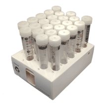 15 mL Conical Metal-Free Sterile Tubes (Rack of 25 Tubes Pictured)