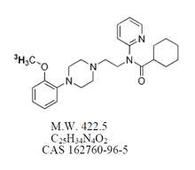 Chemical structure of tritiated WAY-100635