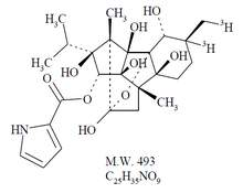 Chemical structure of tritiated Ryanodine