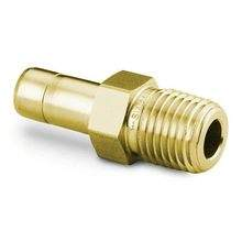 Brass Male Tube to Pipe Adapter