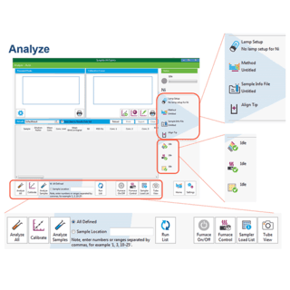 Syngistix for AA Express Analyze Screen