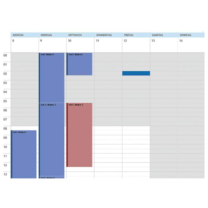 job::manager software calendar view